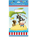 Pack 10 Childrens Birthday Party Loot Bags - Boys Pirate