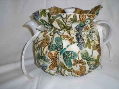 Cheapest Prices! Dragonfly Tea Pot Cozy - Fits 6 Cup Teapot - Reversible