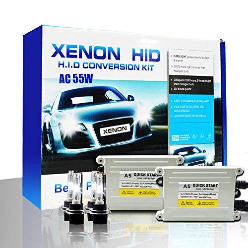 Shuanghong Ac 55W Super Fast Quick Start Slim Ballast Hid Xenon Conversion Kit White D2S-5000K