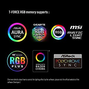 TEAMGROUP T-Force Delta RGB DDR4 16GB (2x8GB) 3200MHz (PC4-25600) CL16 Desktop Memory Module ram TF4D416G3200HC16CDC01 - White (Color: White, Tamaño: 3200MHz)