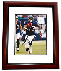 Arian Foster Autographed Hand Signed Houston Texans 8x10 Photo MAHOGANY CUSTOM FRAME by Real Deal Memorabilia