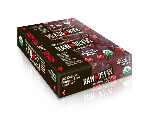 Raw Revolution 100 Calorie Organic Live Food Bars, Cherry Chocolate Chunk, 20...