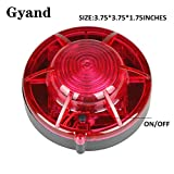 Gyand Road Flares Roadside Flashing Emergency LED Lights Beacon in Red with Magnetic Base for Car (Pack of 2)