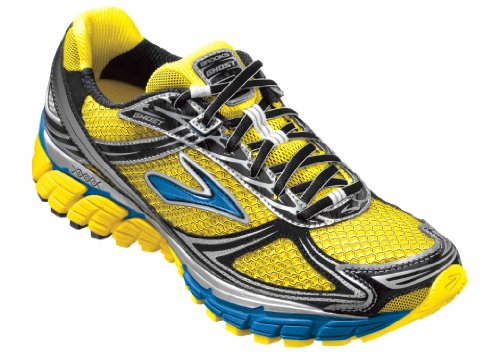 Brooks Brooks Men's Ghost 5 Running Shoe,Empire Yellow/Skydiver/Silver,10.5 D US