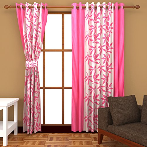 Freehomestyle Floral Curtain- Pink