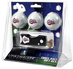 Montana Grizzlies 3 Golf Ball Gift Pack w/ Spring Action Tool - NCAA College Athletics