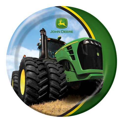 Check Out This John Deere Round Dessert Plates, 8 Count