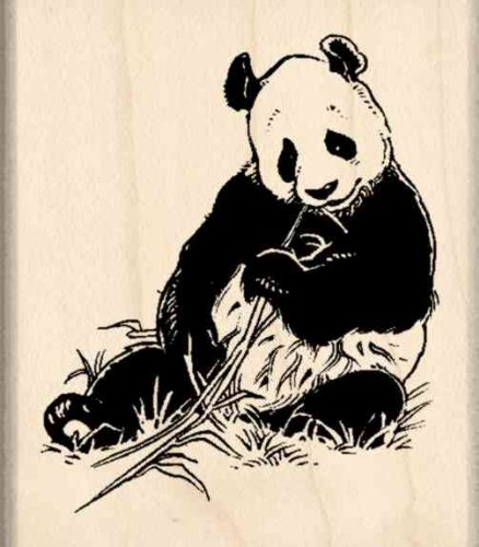 Panda Rubber Stamp - 1-3/4 inches x 2 inches