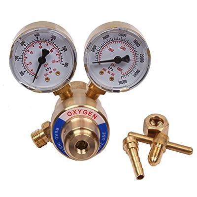 BETOOLL HW9005 Welding Gas Welder Oxygen Regulator Gauges Oxy for Victor Torch Cutting Kits CGA 540