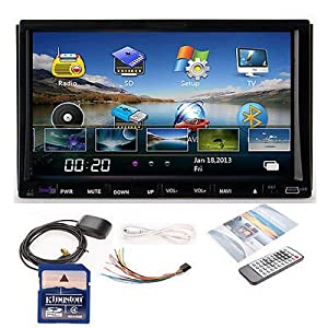 Hd 7 in Dash Double 2 Din Car DVD Stereo Player GPS Navigation Bluetooth Usb tv