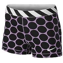 Nike Women's Pro 3'' Stripe And Dot Compression Dri Fit Shorts-XSmall-Purple