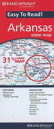 Arkansas State Map (Rand McNally Easy to Read!)