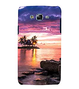 printtech Nature View Sunset Back Case Cover for Samsung Galaxy A3 / Samsung Galaxy A3 A300F