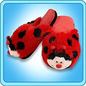 Amazon.com : My Pillow Pets Lady Bug Slippers - Small(Kids ...