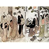 An Arranged Introduction at a Shrine, by Torii Kiyonaga (V&A Custom Print)