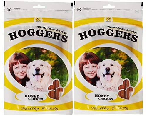 Hoggers Honey Chicken Dog Treats, 100 G, 2-Pack