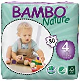 Bambo Nature Premium Baby Diapers, Maxi, 30 Count, Size 4