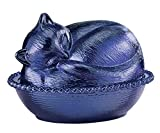 Miles Kimball Cobalt Blue Depression Style Glass Cat Candy Dish