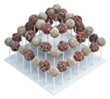 The Smart Baker® 3 Tier Square White Cake Pop Stand, Holds 52 Cake Pops