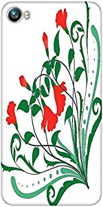 Snoogg corner floral designs Designer Protective Back Case Cover For Micromax Canvas Fire 4 A107