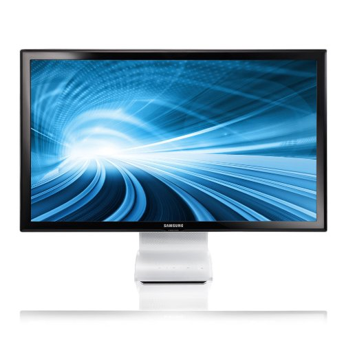 Samsung C24B750X 24 inch LED USB 3.0 Wireless SmartStation Monitor with Mobile Control and MHL - Gloss Back/White (1920x1080 Full HD, 5ms, Speakers, HDMI/USB x 4)