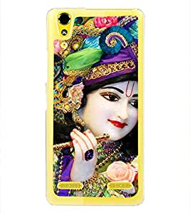 Lord Krishna 2D Hard Polycarbonate Designer Back Case Cover for Lenovo A6000 Plus :: Lenovo A6000+ :: Lenovo A6000