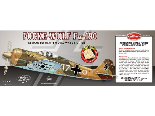Guillow Focke Wulf Fw-190 laser Cut Kit 25-3/4