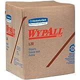 "Kimberly-Clark Wypall L20 Wiper, 14-25/64"" Length x 12-1/2"" Width, Tan (12 Pack, of 68)"