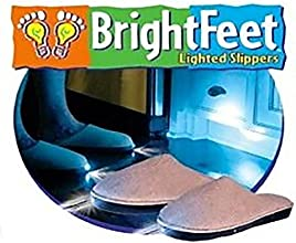 Bright Feet Lighted Slippers- Adult- Beige Small