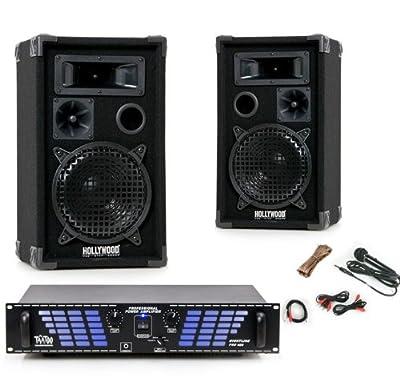 PA Partyanlage Musikanlage Lautsprecher Boxen 1200 Watt Endstufe Verstärker DJ-549 von etc-shop auf Reifen Onlineshop