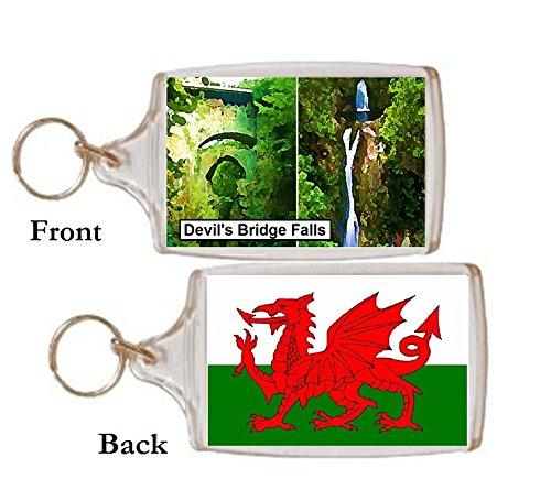 Schlüsselring Devils Bridge Wasserfall Wales Geschenk Tourist Souvenir