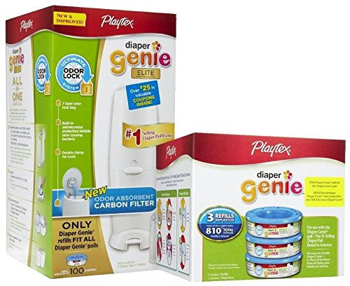 Фото Playtex Diaper Genie Elite Pail System w/ Carbon Filter