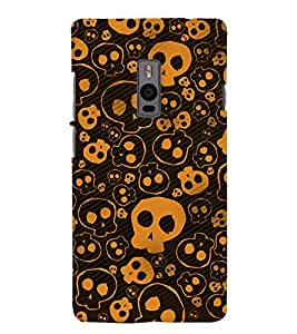 Chiraiyaa Designer Printed Premium Back Cover Case for OnePlus Two 1+2 (Skull outline pattern) (Multicolor)