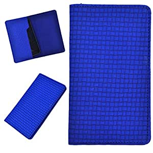 DCR Pu Leather case cover for Spice Stellar Horizon Pro (MI-505) (blue)