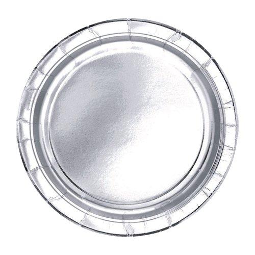 "Silver Metallic 7"" Dessert Plates - 1"