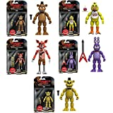 "Five Nights At Freddys 5"" Freddy, Chica, Foxy, Bonnie, Gold Freddy Action Figures! Set Of 5"