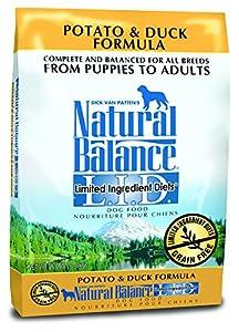 Natural Balance L.I.D. Limited Ingredient Diets Potato & Duck Formula Dry Dog Food, 26-Pound