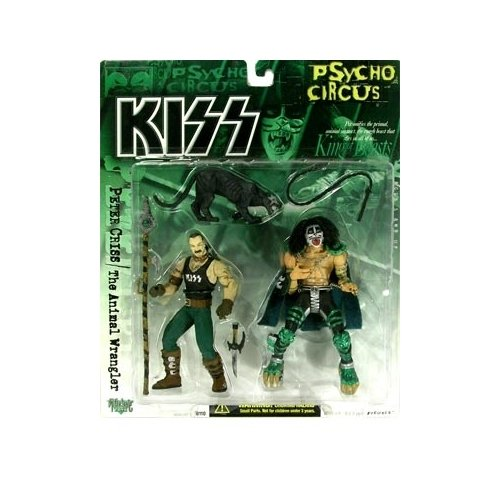 McFarlane Toys, KISS Psycho Circus, Peter Criss and the Animal Wrangler Action Figures
