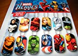 Marvel Avengers and Super Heros Figure Dog Tag Set of 15 with Bonus