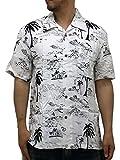 (ルーシャット) ROUSHATTE アロハシャツ 半袖 大きいサイズ シャツ レーヨン ハイビスカス 10color 3L 柄3