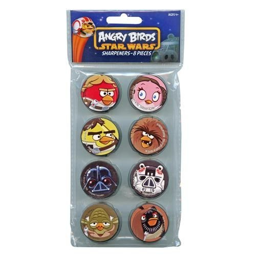 Angry Birds Star Wars 8pk Round Sharpeners - 1