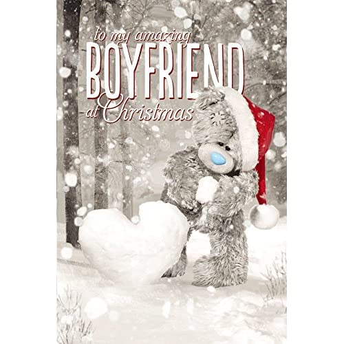 Me To You Tatty Teddy 3D Holographic Card - Amazing Boyfriend Christmas Card