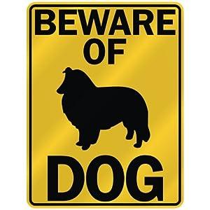 "BEWARE OF "" SHETLAND SHEEPDOG "" PARKING SIGN DOG"
