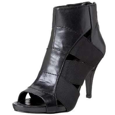 Nine West Women's Haldir Peep Toe Bootie,Black,11.5 M US