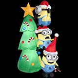 Holiday-Inflatables-Christmas-Yard-DecorationsChristmas-6-Minions-Decorating-Tree-Scene