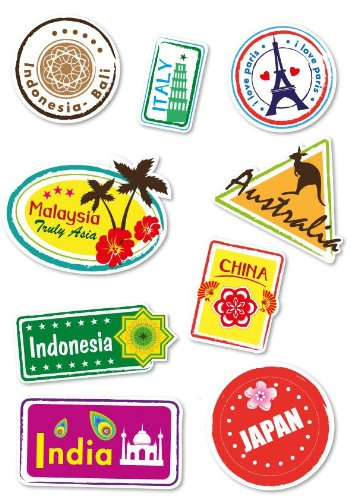supertogether-world-travel-locations-suitcase-stickers-set-of-9-multi-coloured