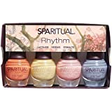 SpaRitual Nail Polish 2015 Rhythm Collection 4pc Mini Kit .17 oz each