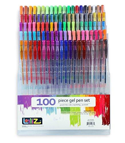 lolliz-set-di-100-penne-a-sfera-a-inchiostro-gel-multicolore-penne-gel-colorate