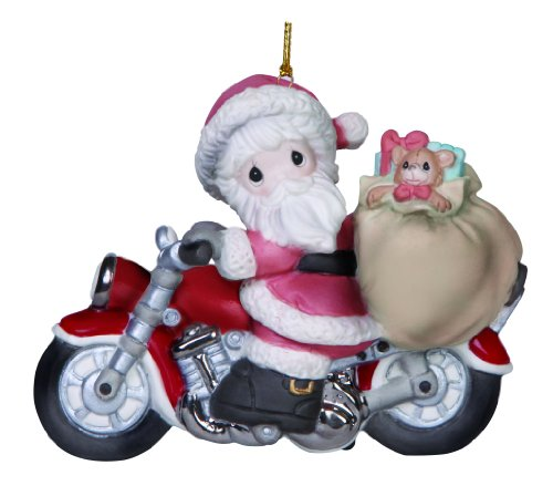 Precious Moments Company Santa on Motorcycle Ornament