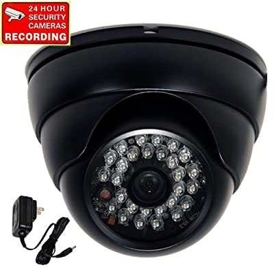 """VideoSecu 700TVL Day Night Outdoor Security Camera Vandal Proof Built-in 1/3"""" SONY Effio CCD Wide View Angle Lens 28 Infrared LEDs for CCTV DVR Home Surveillance with Bonus Power Supply 1PA"""